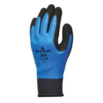 Showa 306 Water Resistant Full Finger Gloves, Extra Large