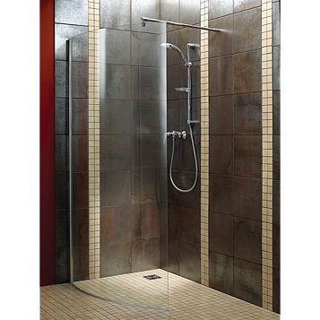 Aquadry Walk-In Shower Screen (W)1050mm