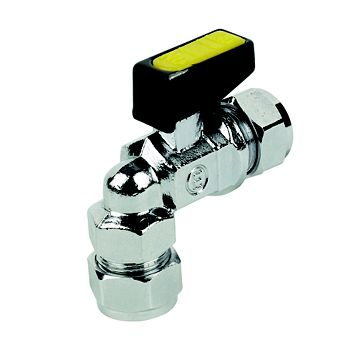 Angled Mini Ball Valve (Dia)10mm