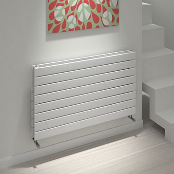 Kudox Tira Horizontal Radiator White, (H)588 mm (W)1000mm