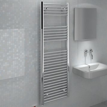 Kudox Flat Towel Warmer Chrome (H)1500 (W)500mm