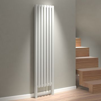 Kudox Axim Vertical Radiator White (H)1800 mm (W)400 mm