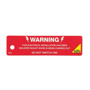 Gas Safe Electrical Isolation Label