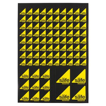 Gas Safe Logo Stickers