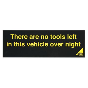 Gas Safe No Tools In Vehicle Sign
