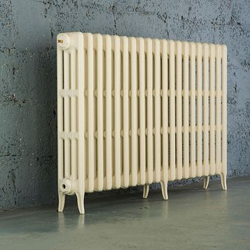 Arroll 4 Column Radiator, Cream (W)1234 mm (H)760 mm