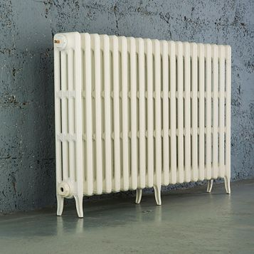 Arroll 4 Column Radiator, White (W)1114 mm (H)760 mm