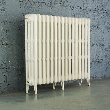 Arroll 4 Column Radiator, White (W)874 mm (H)760 mm