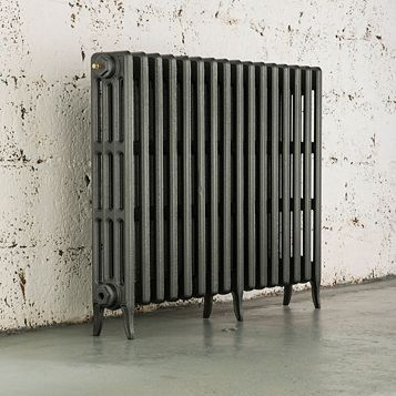 Arroll 4 Column Radiator, Cast Grey (W)874 mm (H)760 mm