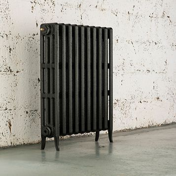 Arroll 4 Column Radiator, Pewter (W)754 mm (H)760 mm