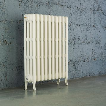 Arroll 4 Column Radiator, White (W)754 mm (H)760 mm