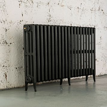 Arroll 4 Column Radiator, Pewter (W)1234 mm (H)660 mm