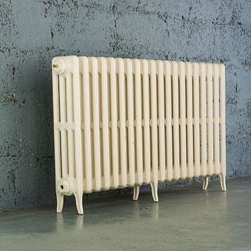 Arroll 4 Column Radiator, Cream (W)1234 mm (H)660 mm