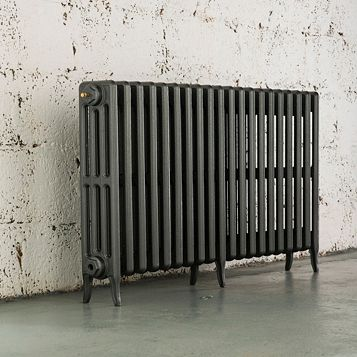 Arroll 4 Column Radiator, Cast Grey (W)1234 mm (H)660 mm