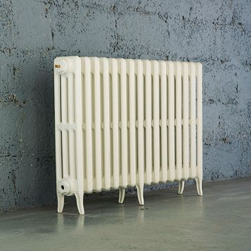 Arroll 4 Column Radiator, White (W)994 mm (H)660 mm