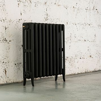 Arroll 4 Column Radiator, Black Primer (W)754 mm (H)660 mm