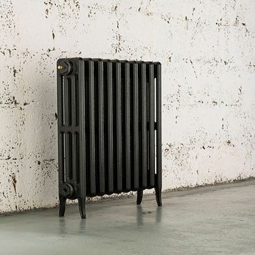 Arroll 4 Column Radiator, Pewter (W)754 mm (H)660 mm