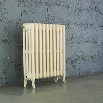 Arroll 4 Column Radiator, Cream (W)634 mm (H)660 mm