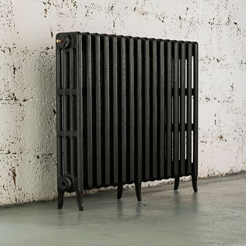 Arroll 4 Column Radiator, Anthracite (W)994 mm (H)760 mm