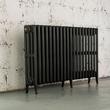 Arroll 4 Column Radiator, Anthracite (W)1234 mm (H)660 mm