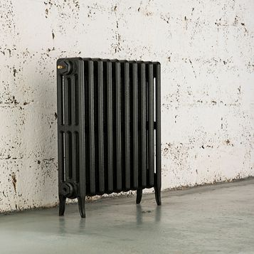 Arroll 4 Column Radiator, Anthracite (W)754 mm (H)660 mm