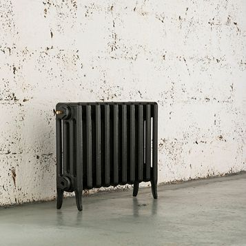 Arroll 4 Column Radiator, Anthracite (W)634 mm (H)460 mm