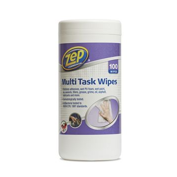Zep Commercial Multi-Surface Wipes, Pack of 100