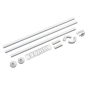 White 5 Way Curtain Rail Kit (L)840mm