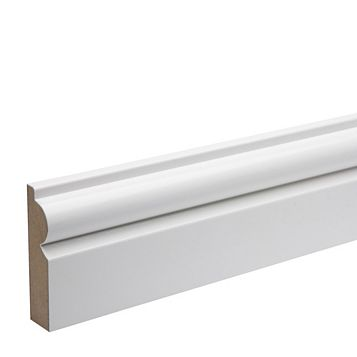 Kota White Eastman Cerfis Torus MDF Architrave, 69 x 18 x 2180mm