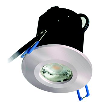 Robus Fire Rated Cool White Brushed Chrome LED Downlight 8 W