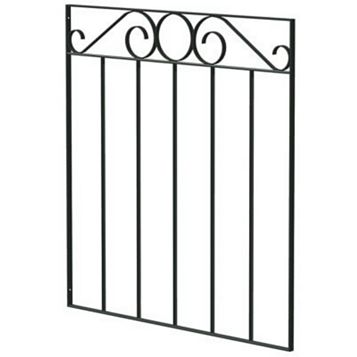 Blooma Steel Swirl Top Wide Gate (H)850mm (W)810mm
