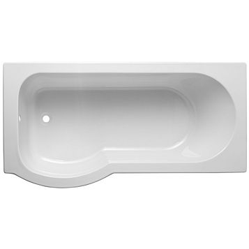 Cooke & Lewis Ramsay LH Acrylic Curved Shower Bath (L)1675mm (W)800mm