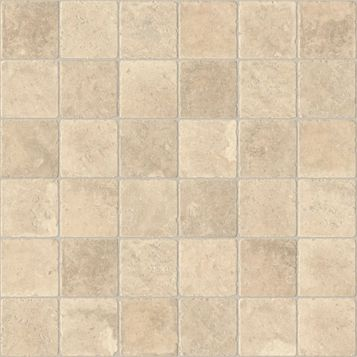 Colours Valiha Beige Tile Effect Vinyl 6 m² Sheet