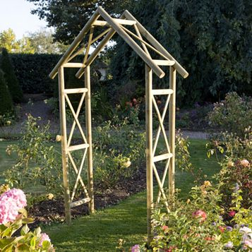 Cottage Wooden Arch - Assembly Required
