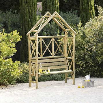 Cottage Wooden Arbour - Assembly Required