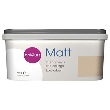 Colours Warm Beige Matt Emulsion Paint 2.5L