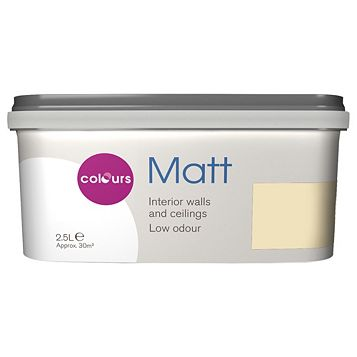 Colours Soft Lemon Matt Emulsion Paint 2.5L
