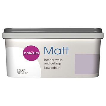 Colours Orchid Matt Emulsion Paint 2.5L