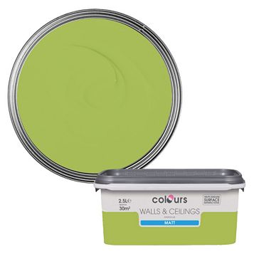 Colours Green Apple Matt Emulsion Paint 2.5L