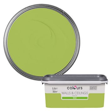 Colours Green Apple Silk Emulsion Paint 2.5L