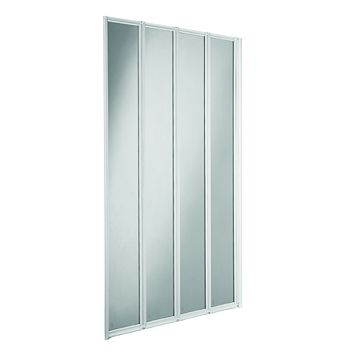 Cooke & Lewis Nile Fixings Supplied Folding Framed Shower Screen Bath Screen (W)840mm