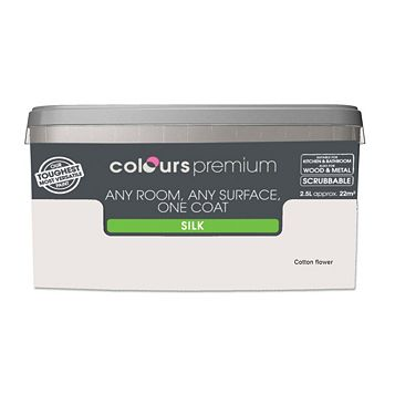 Colours Premium Any Room One Coat Cotton Flower Silk Emulsion Paint 2.5L