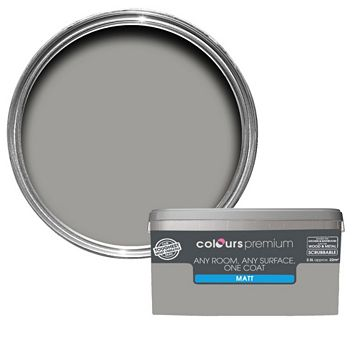 Colours Premium Any Room One Coat Shadow Matt Emulsion Paint 2.5L