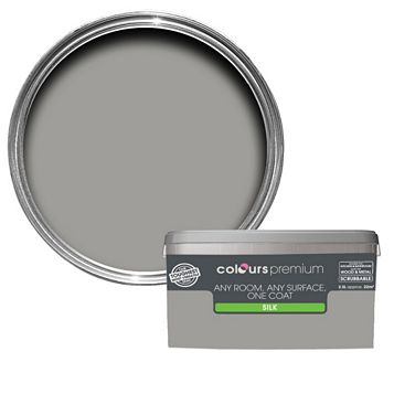 Colours Premium Any Room One Coat Shadow Silk Emulsion Paint 2.5L