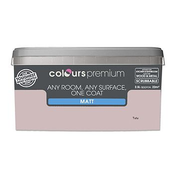 Colours Premium Any Room One Coat Tutu Matt Emulsion Paint 2.5L