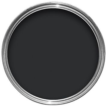 Colours Quick Dry Exterior Black Satin Paint 2.5L