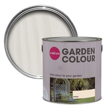 Colours Garden Ivory Matt Woodstain 2500ml