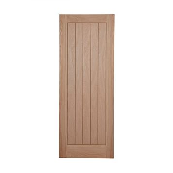 Cottage Panelled Oak Veneer Internal Door, (H)1981mm (W)686mm