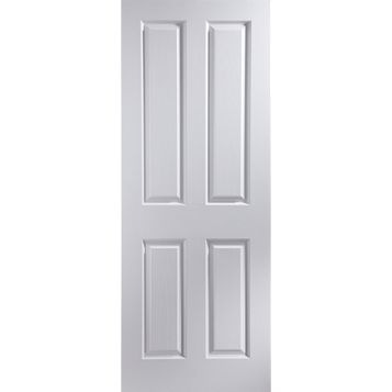 4 Panel Primed Internal Door, (H)2040mm (W)726mm