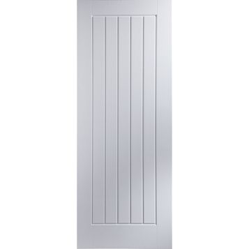 Cottage Panelled Primed Internal Door, (H)1981mm (W)838mm